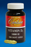 Vitamin D3 (1000 iu, 100 soft gels)
